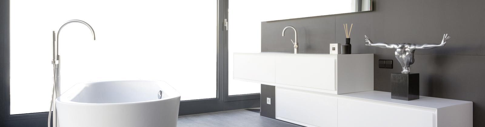 Minimalistisches Badezimmer In Der Ausstellung Graf.